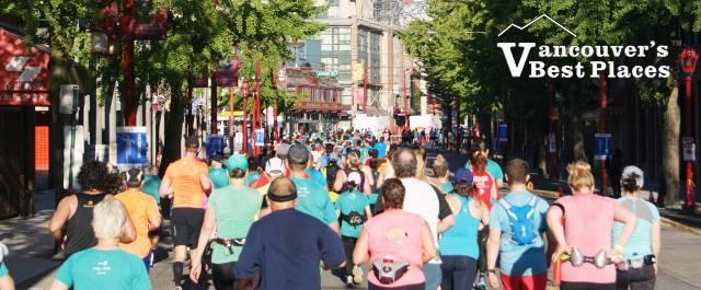Marathon Runners in Chinatown