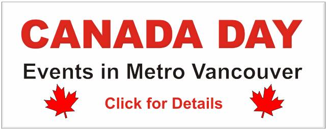 Canada Day Events in Metro Vancouver