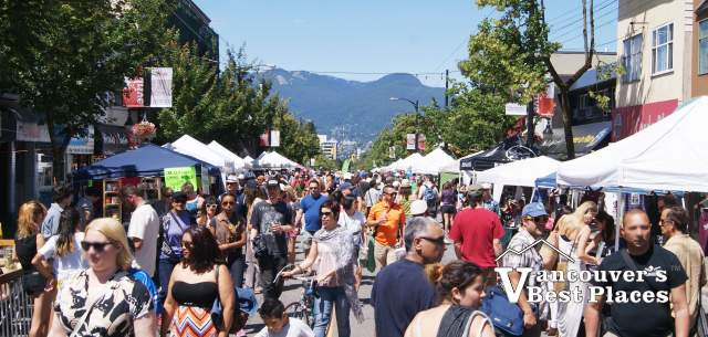 Crowds at Car Free Day on Commercial