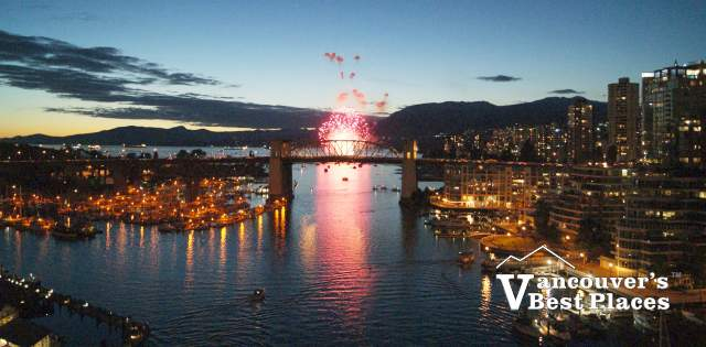 False Creek and English Bay Fireworks
