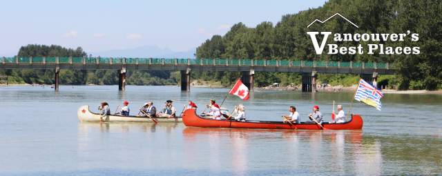 Fur Trading Canoes in Fort Langley