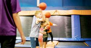 Children at Sky Zone