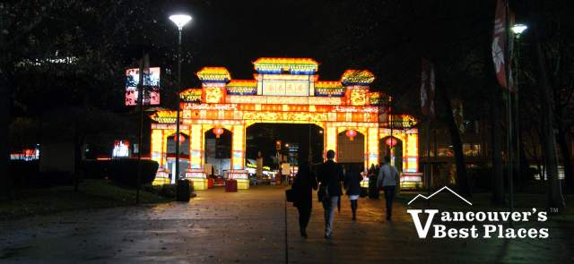 Chinese Lantern Gate at the PNE