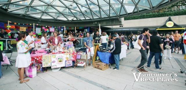 Market Mexico Vendors at Robson Square