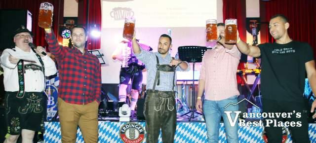 Men at Alpen Club Oktoberfest