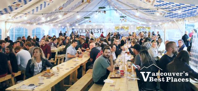 Oktoberfest Beer Garden Hall
