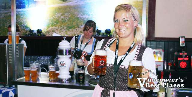 Bar Maid at Vancouver Oktoberfest
