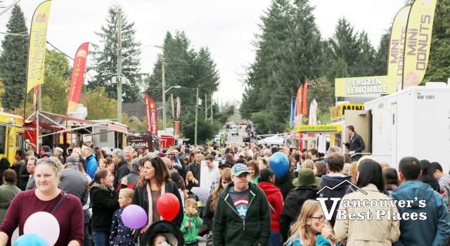 Fort Langley Cranberry Festival Crowds