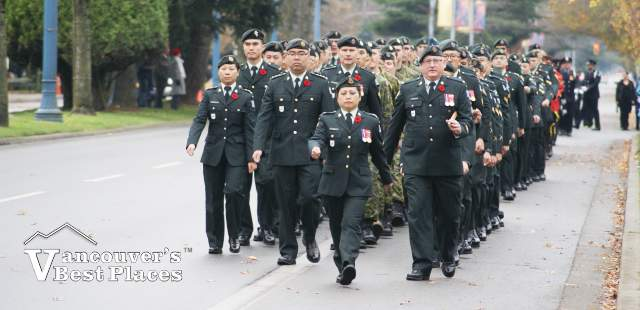 Cadets in Richmond Remembrance Day Parade
