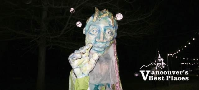 Character at Garden Light Festival
