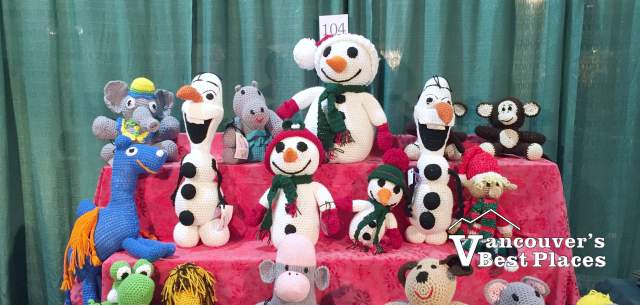 Hand-Knitted Toys at the Chilliwack Craft Fair