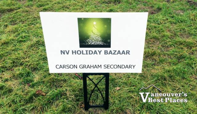 NV Holiday Bazaar Lawn Sign