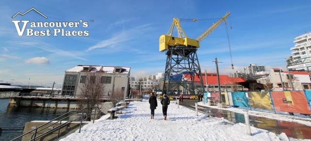 North Vancouver Shipyards in Snow