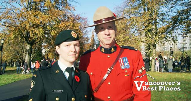 RCMP and Military at Remembrance Day
