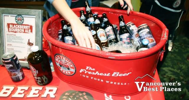 Red Truck Brewery Beers Display