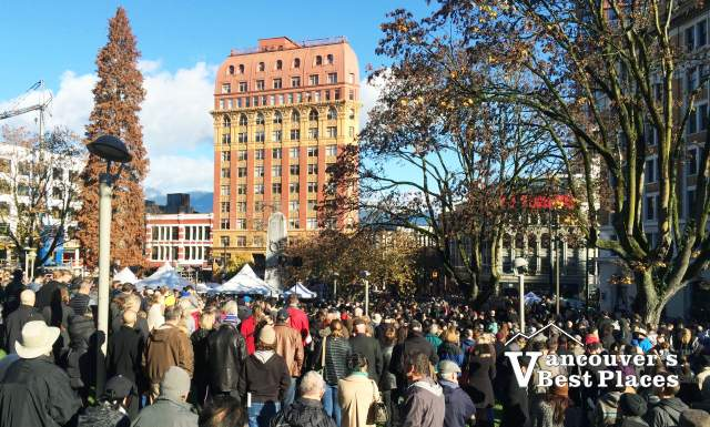 Remembrance Day at Victory Square