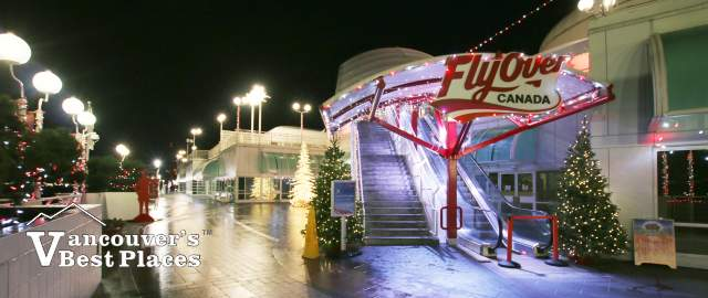 FlyOver Canada Entrance at Christmas