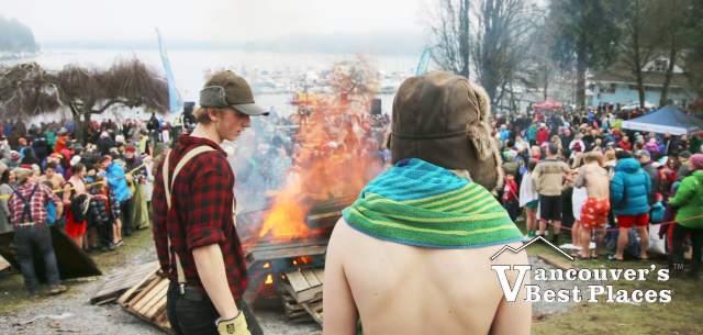 New Year's Bonfire at Deep Cove