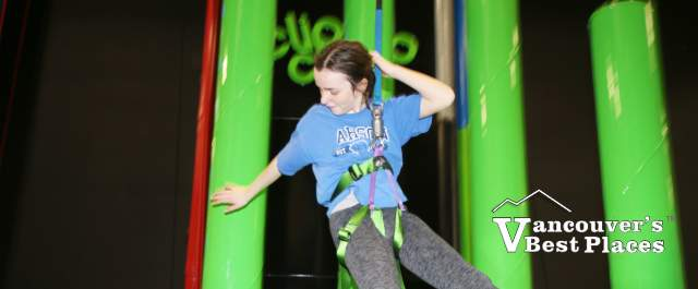 Girl Descending at Clip 'n Climb