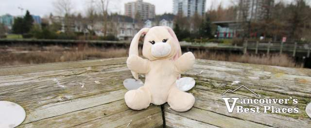 Easter Bunny Toy at River District Pier
