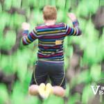Boy Jumping into Pit at Extreme Air Park