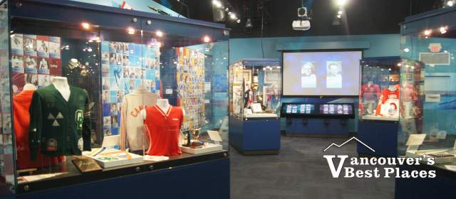 Displays at BC Sports Hall of Fame
