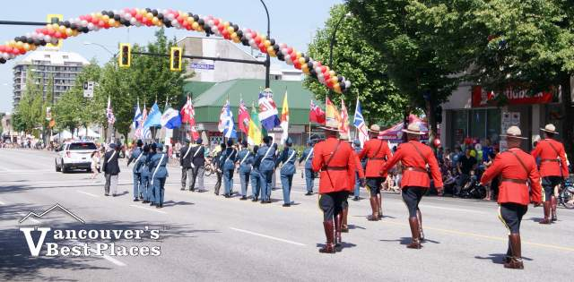 RCMP in Hats Off Day Parade