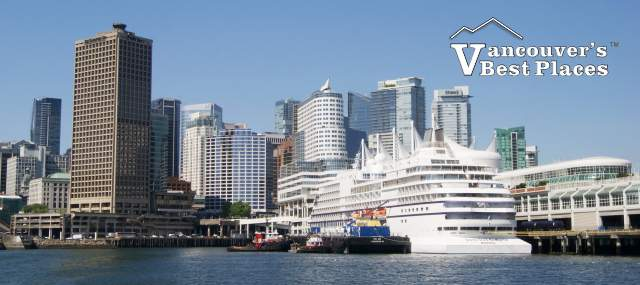 Docked Cruise Ship in Vancouver