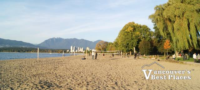 Kitsilano Beach in Fall