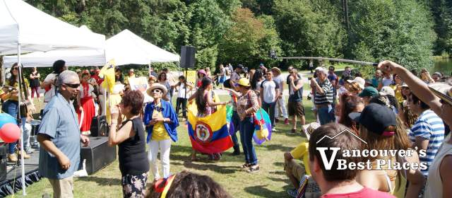 Music Stage at Colombian Picnic