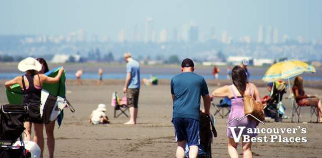 People on Crescent Beach