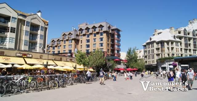 Plaza at Whistler Village in Summer