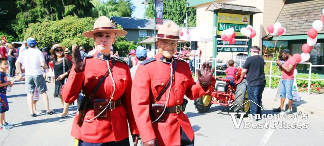 RCMP on Canada Day in Fort Langley