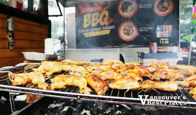 Caribbean Bbq Chicken Food Vendor Vancouvers Best Places