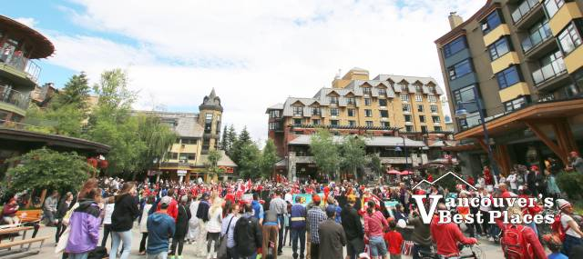 Whistler Village and Canada Day Crowds