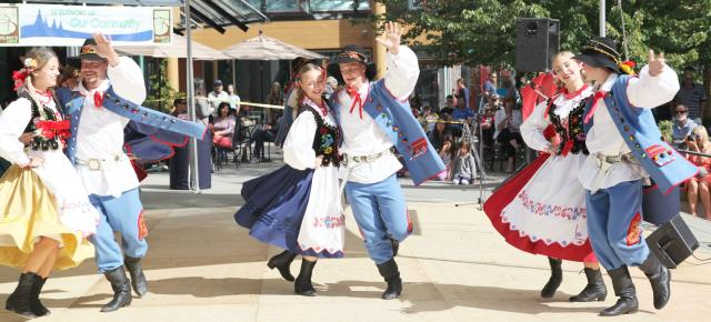 Dancers at the Polish Festival