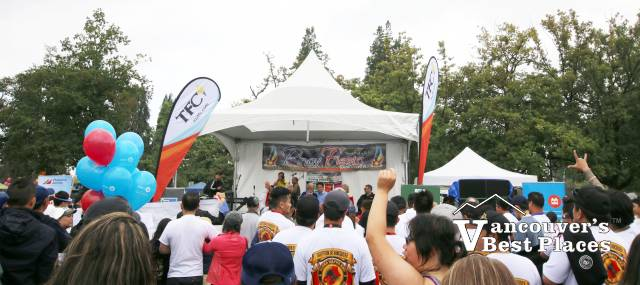 Stage and Crowds at Pinoy Fiesta