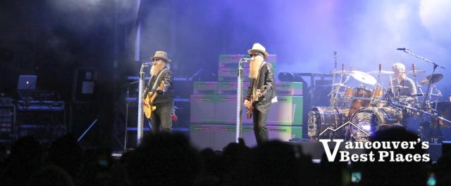 ZZ Top on the PNE Amphitheatre Stage