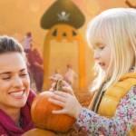 Admiring a Harvest Pumpkin (GH)