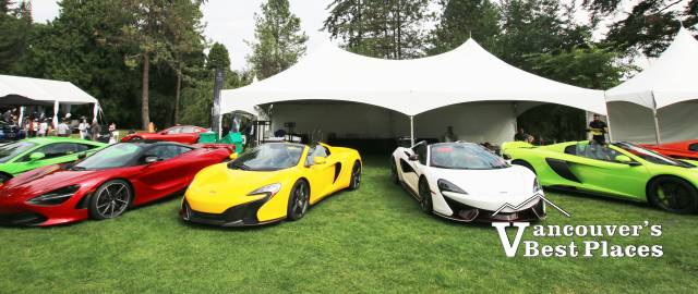 McLaren Cars at VanDusen Gardens