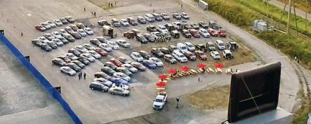 River District Drive-in Movie Aerial View