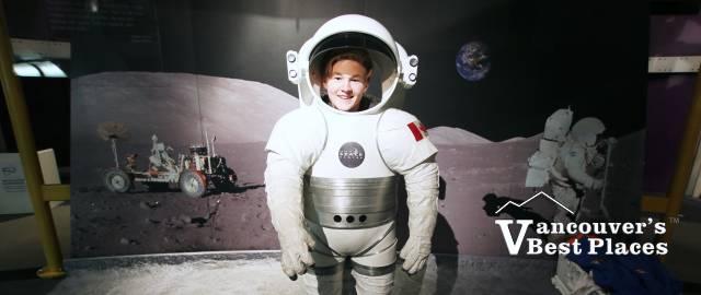 Astronaut Suit at Vancouver Space Centre
