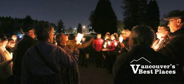Choir at Mountain View Cemetery