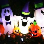Inflatable Halloween Ghost Trio