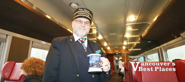 Conductor with Souvenir Mug