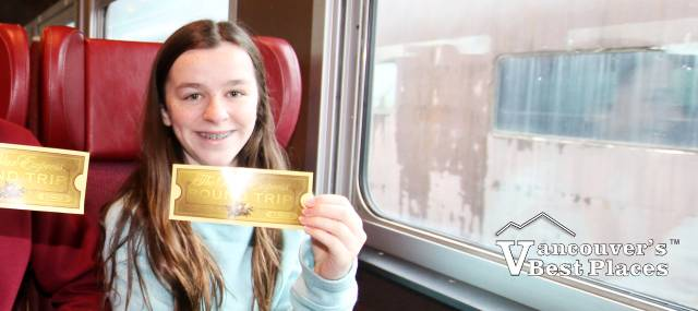 Girl with Golden Train Ticket