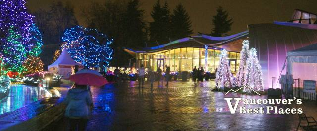 VanDusen Garden Entrance at Christmas