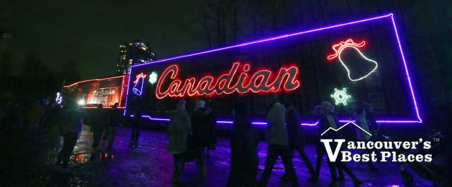 CP Holiday Train with Christmas Lights