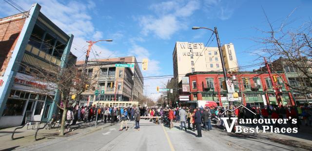 Chinese Parade along Pender at Carrall Street