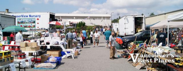 Cloverdale Flea Market Vendor Tables
